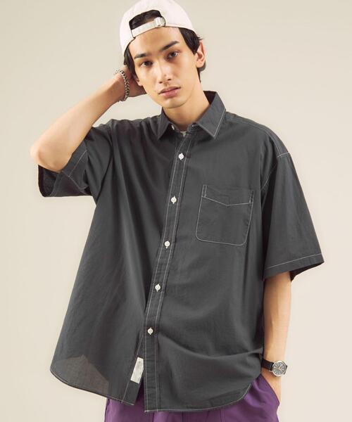 ★ [ GLR/ lab ] カラー スキーム 半袖 シャツ ♯