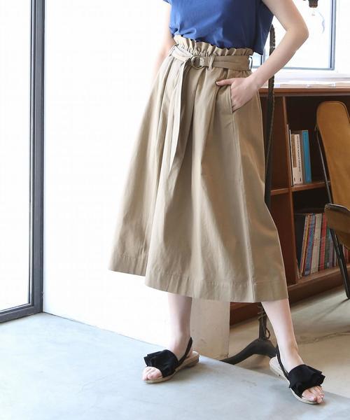 【『リンネル』6月号掲載】コットンリネンイージーロングフレアスカート