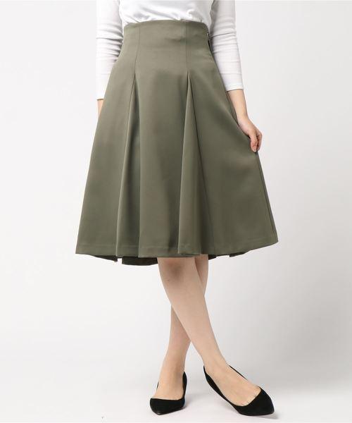 ハイウエストリボンフレアースカート