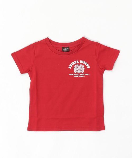 キッズ/刺繍クルーネックTシャツ/KIDS T-SHIRT DIVING & SALVAGE