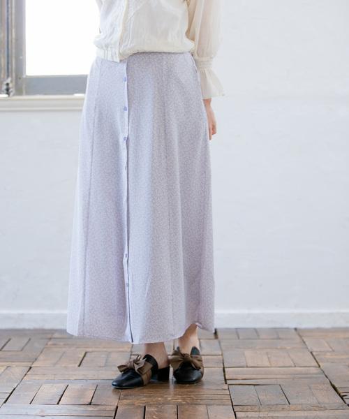 フェイクボタンマーメイドスカート2