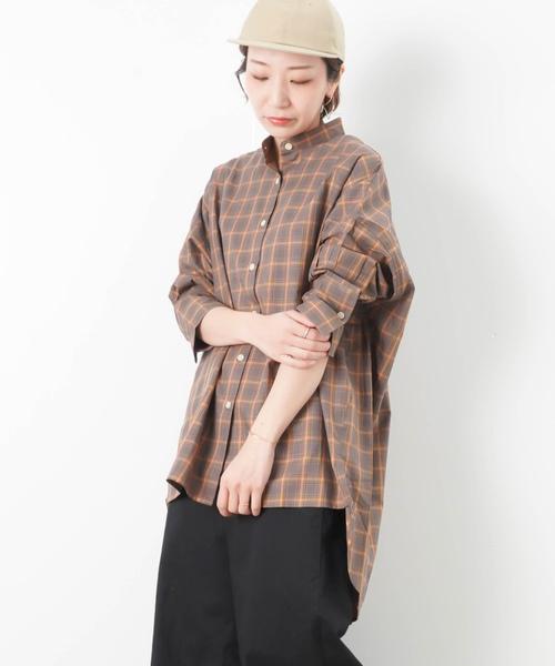 3bb1f779acf セール】LC/LLL バックロング チェックシャツ(シャツ/ブラウス)|LUCA ...