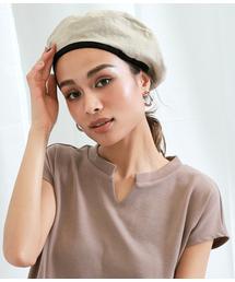 Settimissimo(セッティミッシモ)のリネンパイピングベレー帽(ハンチング/ベレー帽)