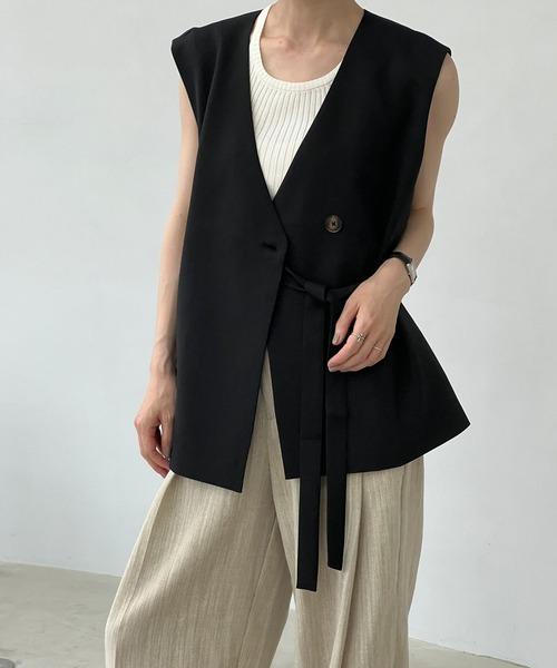 【chuclla】Set-up box silhouette cache-coeur vest sb-1 chw1208