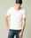 London Denim(ロンドンデニム)の「スパンデックス フライス ストレッチ クルーネック 半袖 Tシャツ(Tシャツ/カットソー)」|ホワイト