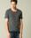 London Denim(ロンドンデニム)の「スパンデックス フライス ストレッチ クルーネック 半袖 Tシャツ(Tシャツ/カットソー)」|チャコールグレー