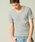 London Denim(ロンドンデニム)の「スパンデックス フライス ストレッチ クルーネック 半袖 Tシャツ(Tシャツ/カットソー)」|ライトグレー