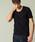 London Denim(ロンドンデニム)の「スパンデックス フライス ストレッチ クルーネック 半袖 Tシャツ(Tシャツ/カットソー)」|ブラック