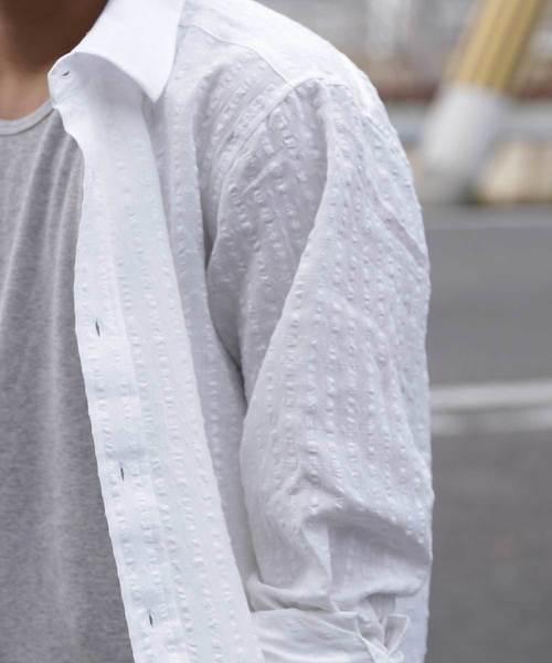 格子柄シャツ