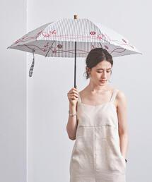 <manipuri(マニプリ)>CTN EMB 晴雨兼用 折り畳み傘