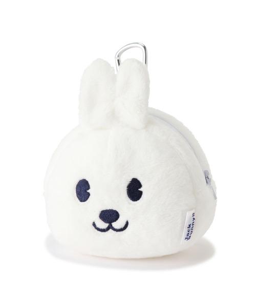 Jack Bunny!!(ジャックバニー)の「【Jack Bunny!!】うさぎ JACK顔ポーチ (UNISEX)(ゴルフグッズ)」|ホワイト