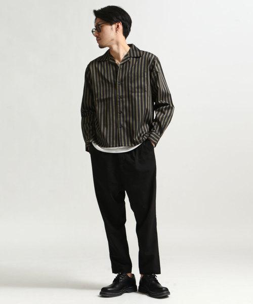 T/Cブロード長袖オープンカラーシャツ【開襟シャツ】