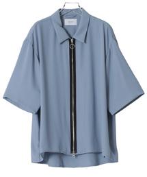 STUDIOUS(ステュディオス)の【STUDIOUS】ジップアクセントハーフスリーブシャツ(シャツ/ブラウス)