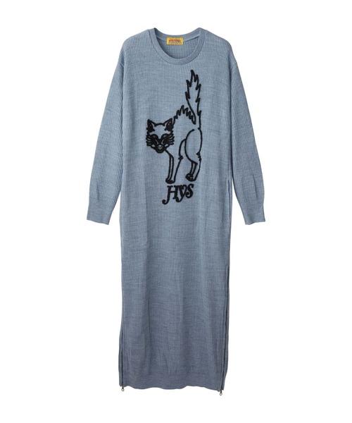 MAD CAT刺繍 ロングワンピース