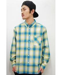 DOUBLE STEAL(ダブルスティール)のライトオンブレ ボタンダウンシャツ(シャツ/ブラウス)