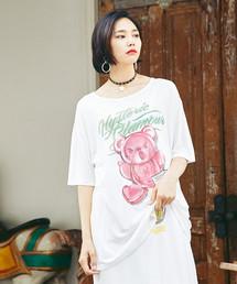 BEAR POPSICLE プリント ビッグTシャツ
