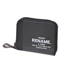 Rename CORDURAナイロン PVCミニラウンド財布ブラック×ブラック