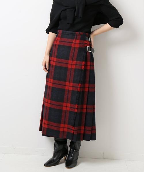Spick & Span(スピックアンドスパン)の「【O'NEIL OF DUBLIN】ラッププリーツマキシスカート◆(スカート)」|レッド