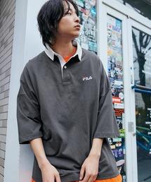 FILA/フィラ ビッグシルエットワンポイント刺繍半袖ラガーシャツブラック系その他