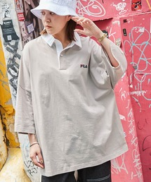 FILA/フィラ ビッグシルエットワンポイント刺繍半袖ラガーシャツベージュ系その他