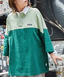 FILA/フィラ ビッグシルエットワンポイント刺繍半袖ラガーシャツグリーン系その他