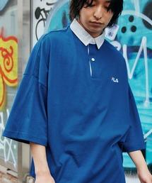 FILA/フィラ ビッグシルエットワンポイント刺繍半袖ラガーシャツブルー系その他
