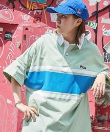 FILA/フィラ ビッグシルエットワンポイント刺繍半袖ラガーシャツグリーン系その他2