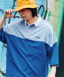 FILA/フィラ ビッグシルエットワンポイント刺繍半袖ラガーシャツブルー系その他2
