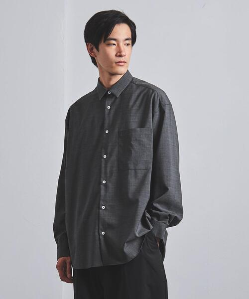 <EN ROUTE(アンルート)> ポリエステル/ウール トロ レギュラーカラー シャツ