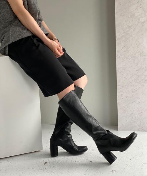 【chuclla】【2021/AW】Round heel long boots chs21a030