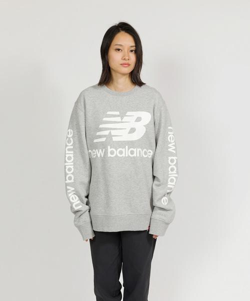 973a65f226319 New Balance(ニューバランス)の「NBロゴクルーネックスウェット(スウェット)」