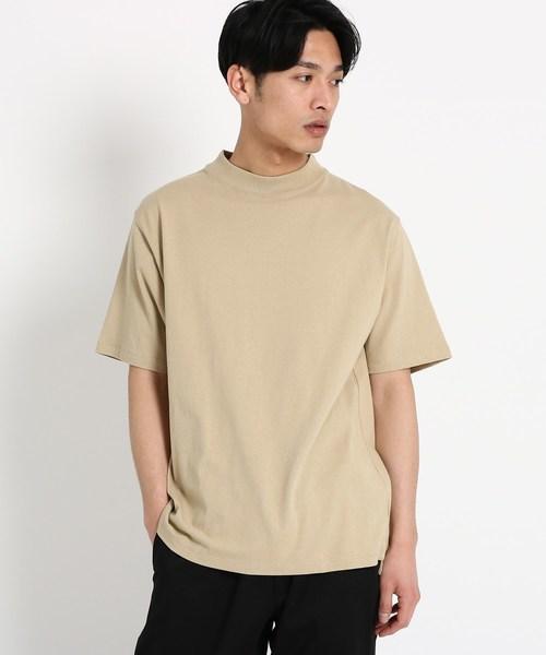 【WEB限定】【USAコットン】モックネックTシャツ