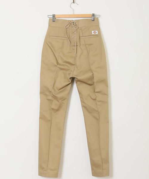 Dickies(ディッキーズ)の「DICKIES PIN TUCK LACE UP PANTS デッキーズピンタックレースアップパンツ(パンツ)」|ベージュ