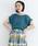 merlot(メルロー)の「タックスリーブプルオーバー079-7196(Tシャツ/カットソー)」|ブルー