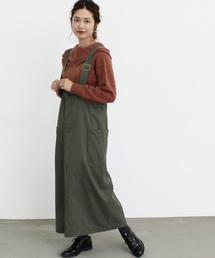 Malle(マル)のmalle チノクロス 山仕事の吊りスカート(スカート)