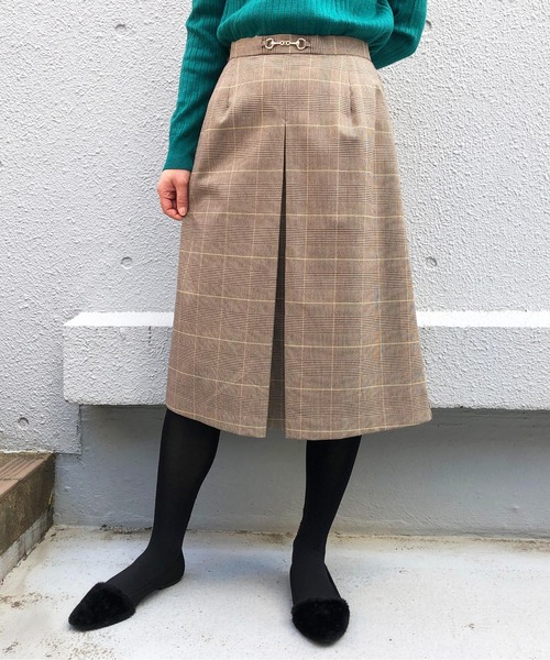 PICCIN(ピッチン)の「ホースビット付きスカート(スカート)」 ベージュ