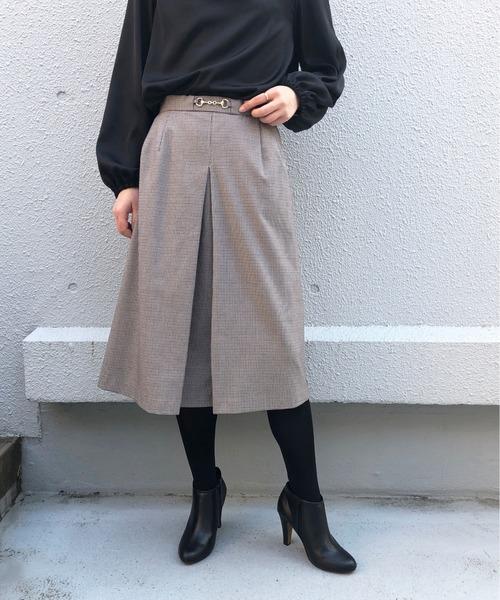 PICCIN(ピッチン)の「ホースビット付きスカート(スカート)」|ブラック系その他