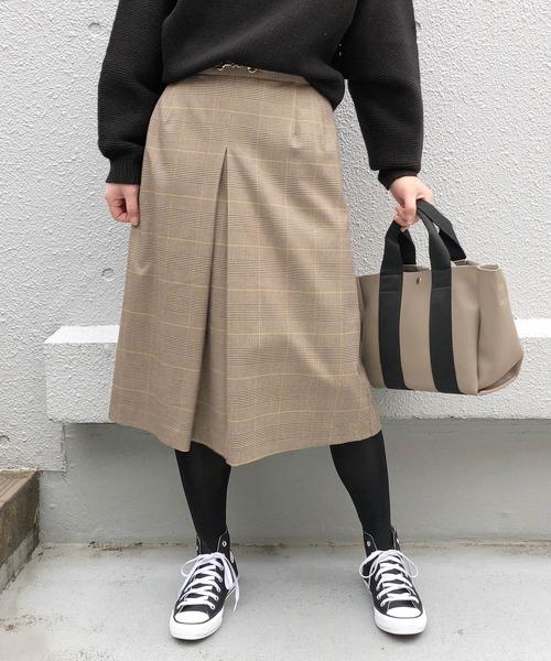 PICCIN(ピッチン)の「ホースビット付きスカート(スカート)」|ブラウン系その他