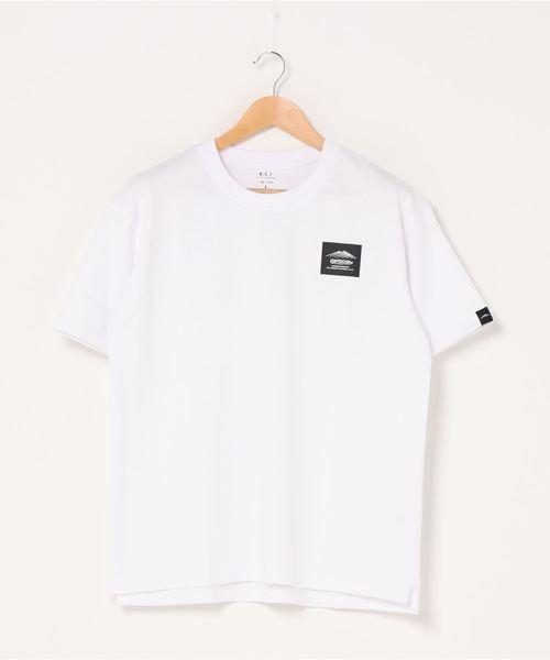 フロントロゴTシャツ  ヘビーウェイトTシャツ 程よくルーズなシルエット サイドスリット入り