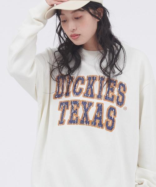 Dickies/ディッキーズ コットン裏毛ロゴデザインプリントスウェット