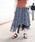 mysty woman(ミスティウーマン)の「ギンガムチェック柄イレヘムフレアスカート(スカート)」|ブラック