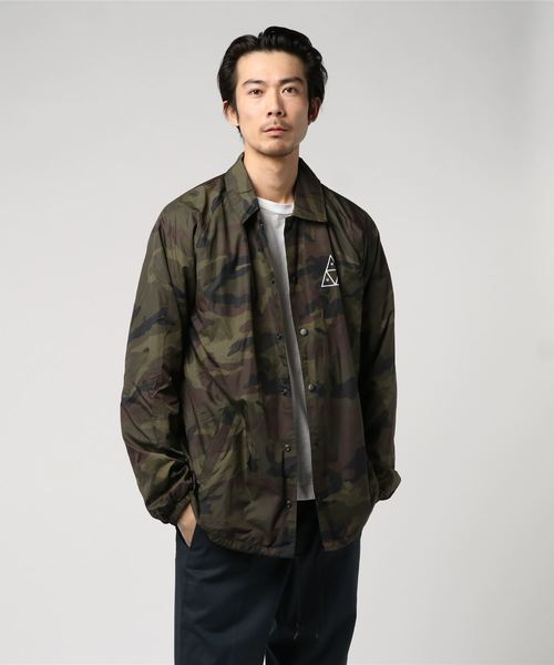 ESSENTIALS TT COACHES JACKET HUF / ハフ コーチ ジャケット
