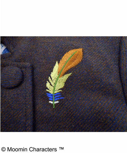 スナフキン 羽根刺しゅうのピーコート