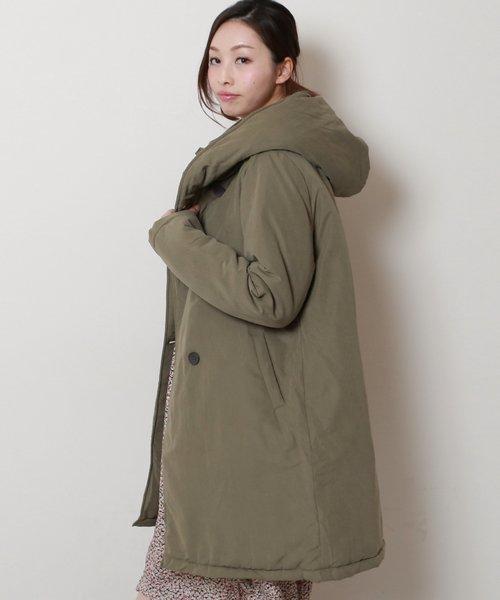 ピーチ中綿コート