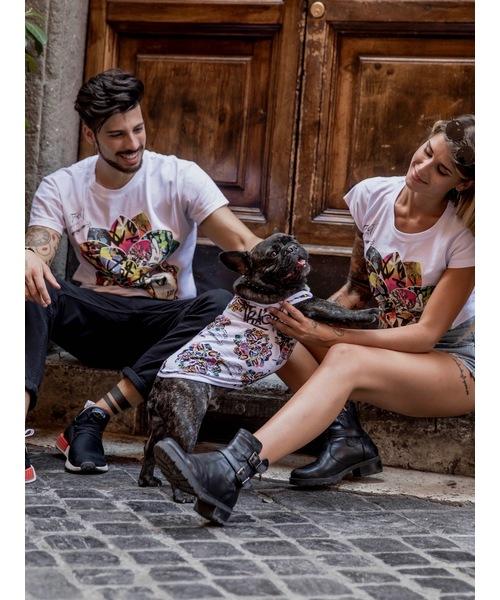 Tract(トラクト)の「GRAFFITI LOTUS(Tシャツ/カットソー)」|ホワイト