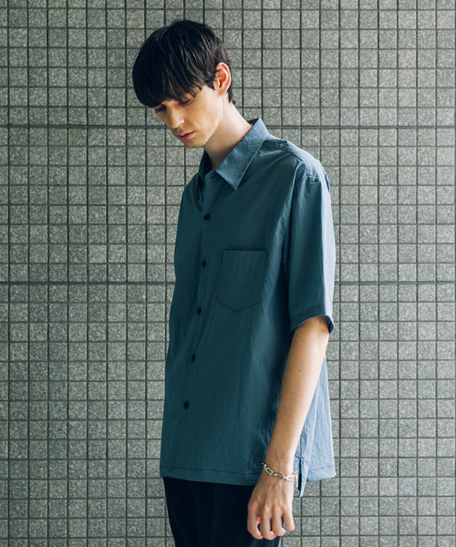 【STUDIOUS】フェザーナイロンドロップネックシャツ【ZOZO限定アイテム】