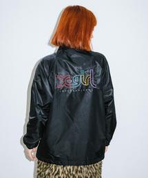 X-girl(エックスガール)の【WEB限定】EMBROIDERY MILLS LOGO COACH JACKET EC(ナイロンジャケット)