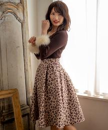 Cherite by PRIME PATTERN(シェリエットバイプライムパターン)のオリジナルレオパード柄タックスカート(スカート)