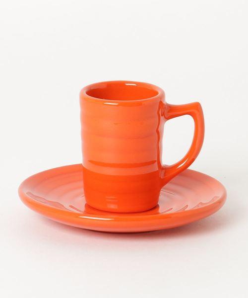 BAUER POTTERY(バウアーポッタリー)の「BAUER POTTERY/バウアーポッタリー DEMITASSE CUP&SAUCER(グラス/マグカップ/タンブラー)」|オレンジ