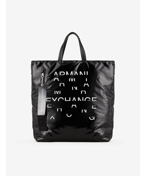 【A|Xアルマーニ エクスチェンジ】ロゴ パファートートバッグ